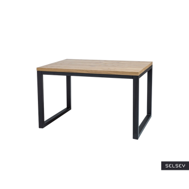 Stół Owens 150x90 cm z czarną podstawą