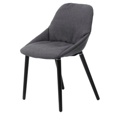 Krzesło tapicerowane Sofie ciemnoszare