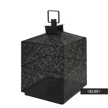 Latarenka metalowa 21 cm czarna