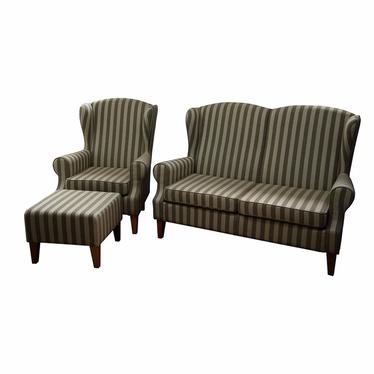 Komplet wypoczynkowy Medellin sofa i fotel z podnóżkiem