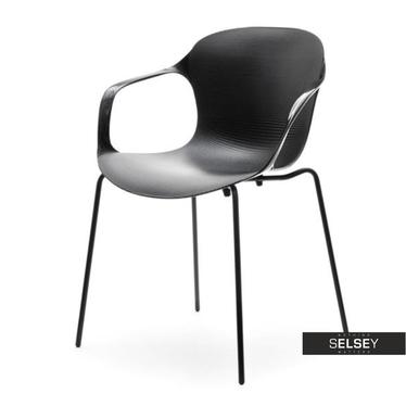 Krzesło Map Chair 2 czarne z lekkiego tworzywa