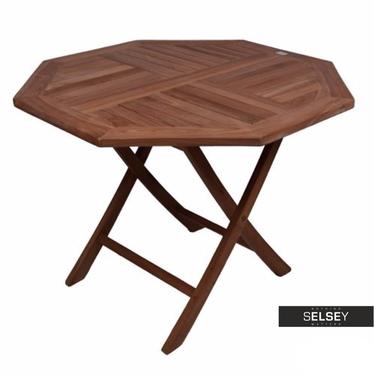 Drewniany stół ogrodowy średnica 100 cm