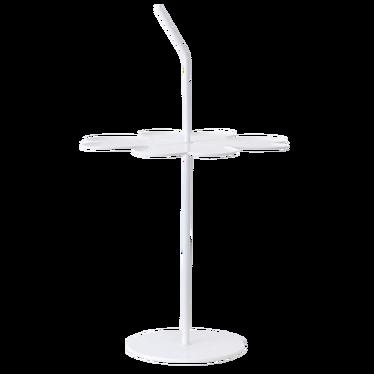 Stolik kawowy Limb biały 43x43 cm z uchwytem