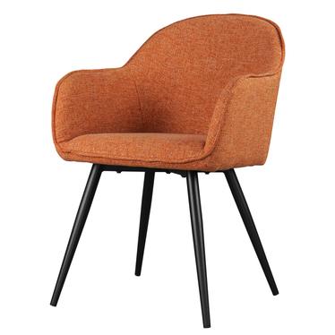 Krzesło Bill rude na czarnych nogach ze stali