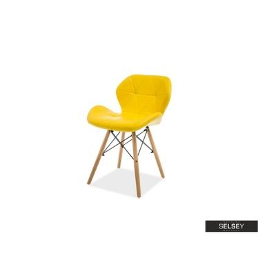 Krzesło Tejn żółte