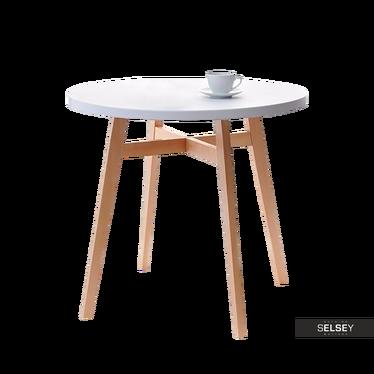 Stół Cross średnica 80 cm drewniany z okrągłym blatem