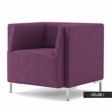 Fotel Fleck 10 fioletowy jasny