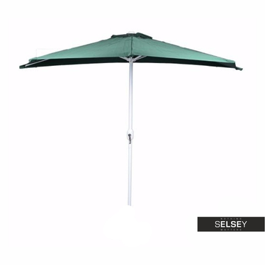 Parasol ogrodowy przyścienny zielony