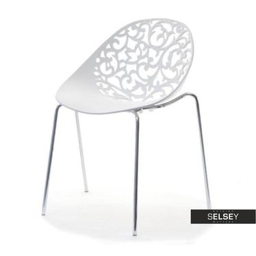 Krzesło Dalia białe ażurowe