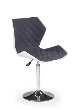 Fotel biurowy Kall 2 biało-popielaty