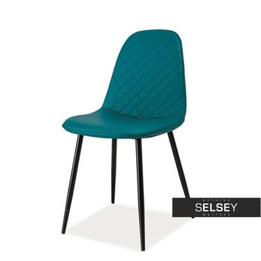 Krzesło Ribeira z pikowaniem morskie