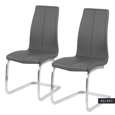 Zestaw dwóch krzeseł Zagorac szare