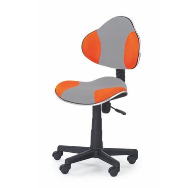 Fotel biurowy Magic szaro - pomarańczowy