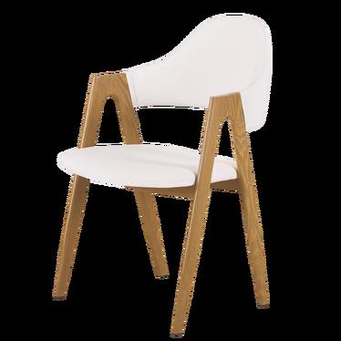 Krzesło Holo białe - dąb miodowy