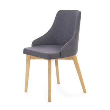 Krzesło Vilaver ciemnoszare - dąb miodowy