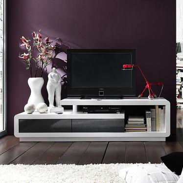 Szafka RTV Pavonis 170 cm z szarymi szufladami