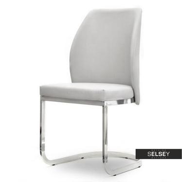 Krzesło Adria szare tapicerowane