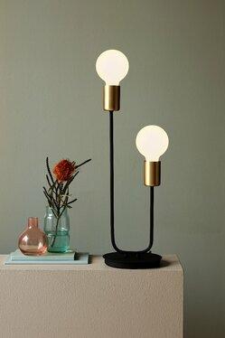Lampa stołowa Josefine x2 czarno-złoty