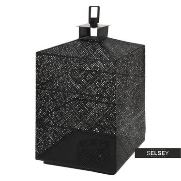 Latarenka metalowa 31 cm czarna