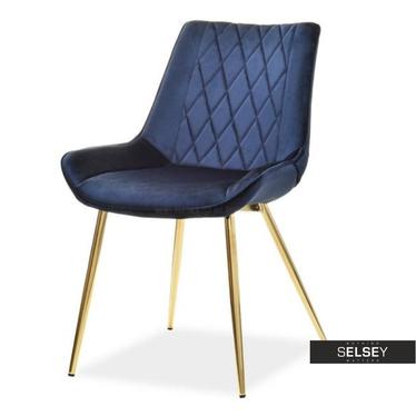 Krzesło Adel granatowe velvet