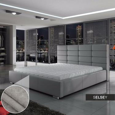 Łóżko Tirso 160x200cm z pojemnikiem w kolorze szarym (Dubaj 06)