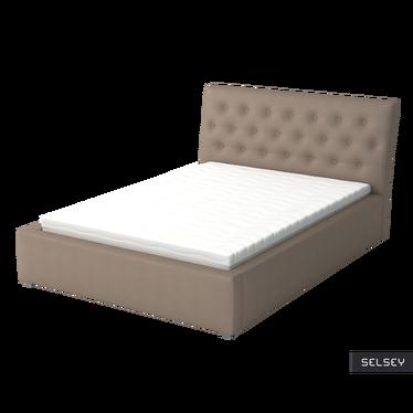 Łóżko tapicerowane Chester z pojemnikiem na pościel