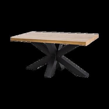 Stół Stavros 180x90 cm z litego drewna dębowego