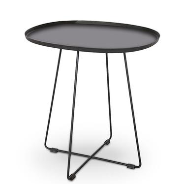 Stolik kawowy Porley 50x42 cm czarny