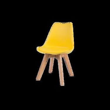 Krzesło Luis wood żółte - dąb