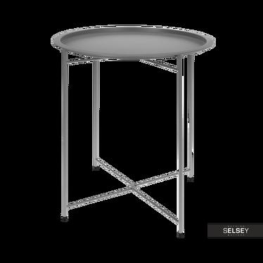 Stolik kawowy Matt średnica 46 cm jasnoszary