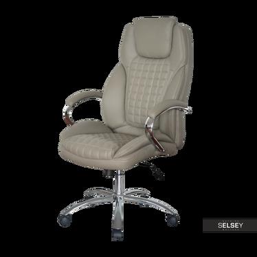 Fotel biurowy Garcia szary