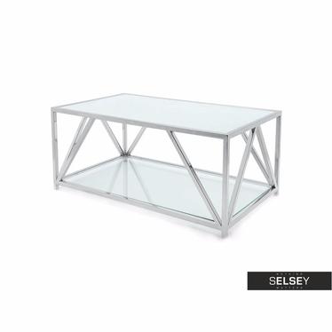 Ława Futura 120x70 cm z dwoma blatami ze szkła