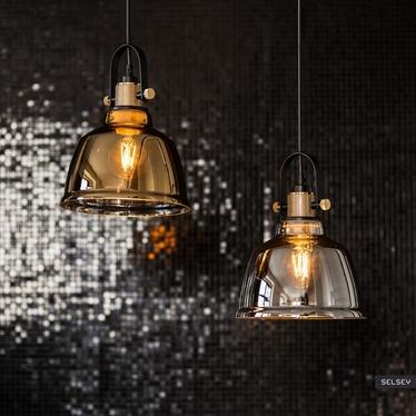 Lampa wisząca Amalfi dymiona średnica 20 cm 9152