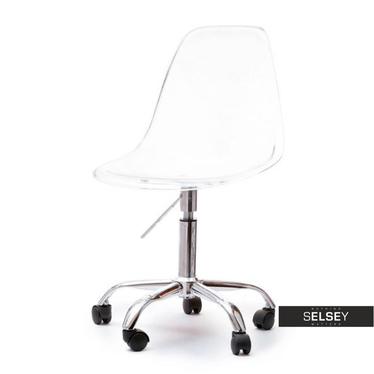 Fotel biurowy MPC move transparentny - chrom na kółkach