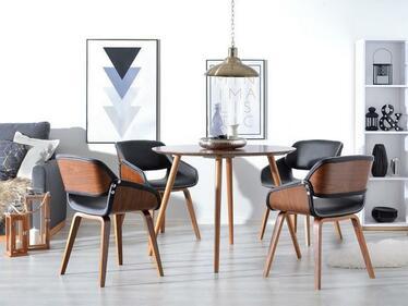 Krzesło Nugat orzech-czarny