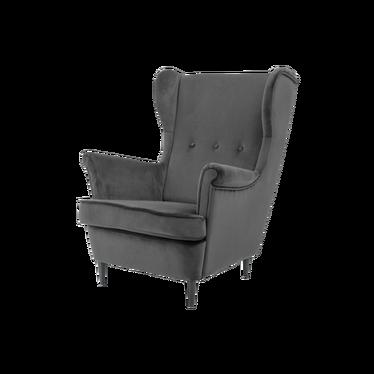 Fotel Torino uszak grafitowy