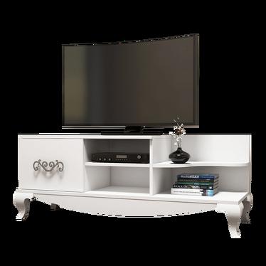 Szafka RTV Ornamentic biała