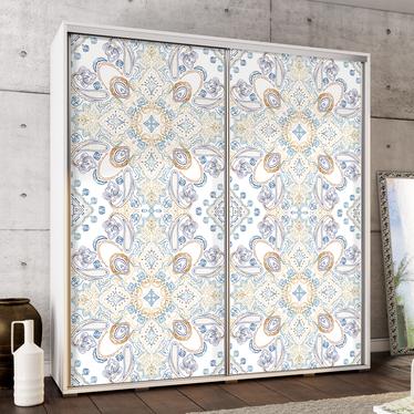 Szafa Wenecja 205 cm kolorowe zdobienia