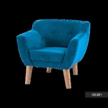 Fotel Lotta turkusowy