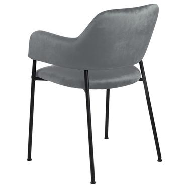 Zestaw dwóch krzeseł tapicerowanych Adansonia ciemnoszare