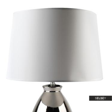 Lampa stołowa Donato srebrna o średnicy 35,5 cm