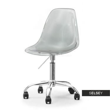 Fotel biurowy MPC move transparentny dymiony - chrom na kółkach