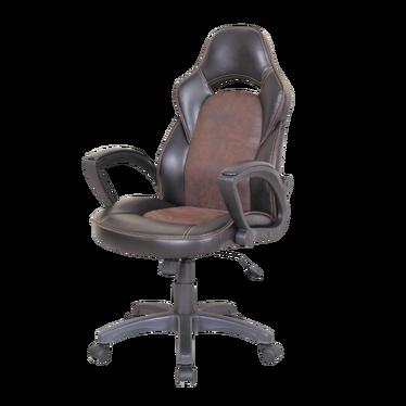 Fotel biurowy Biden czarno - brązowy