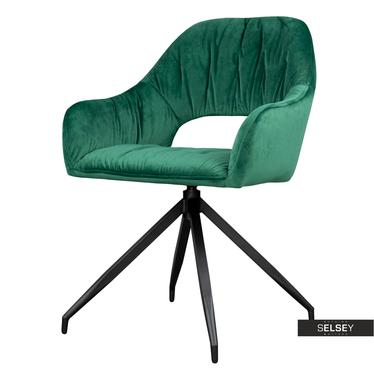 Krzesło Naball obrotowe zielony velvet