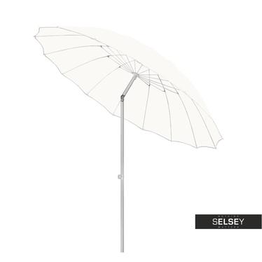 Parasol ogrodowy z regulacją 240 cm biały