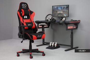 Fotel gamingowy Gadrar II czarno - czerwony z poduszkami