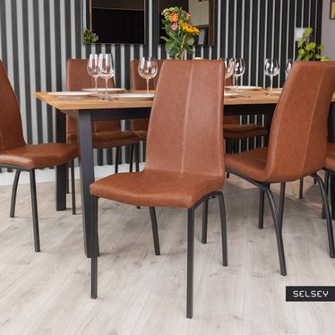 Zestaw dwóch krzeseł tapicerowanych Zagorac brązowe