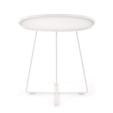Stolik kawowy Porley 50x42 cm biały