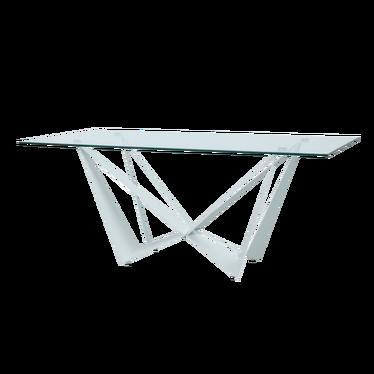 Stół Laugar 180x90 cm transparentny