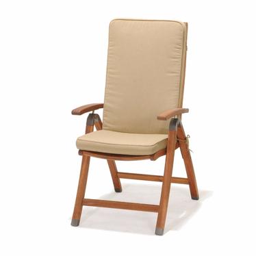 Krzesło składane z podłokietnikami  z poduszką Catalina